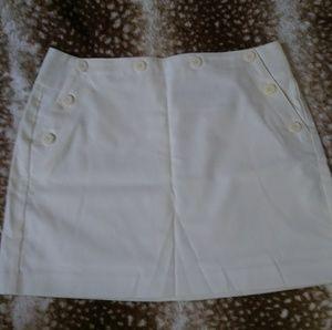 Express Vintage White Mini Skirt